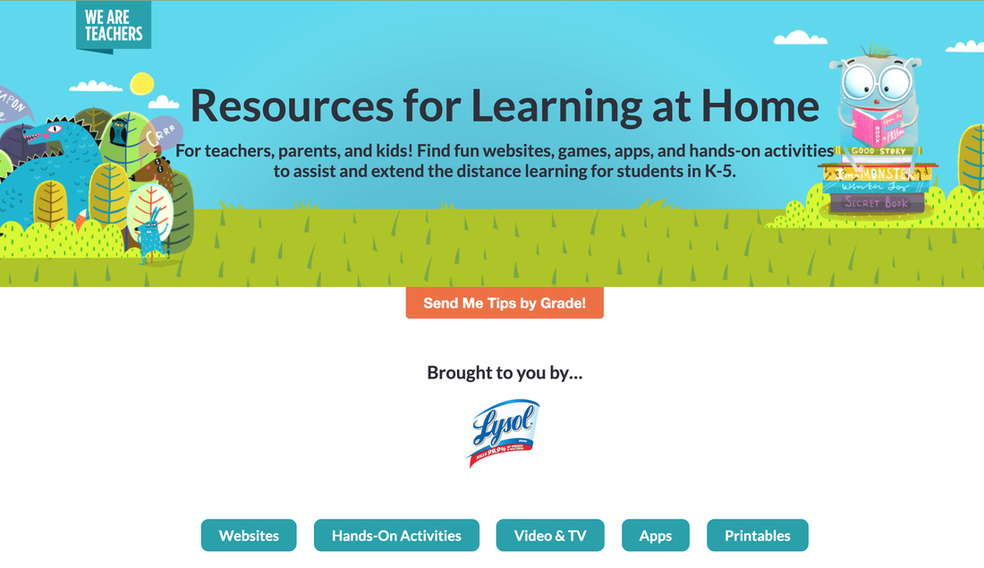 We Are Teachers Resources for Learning at Home